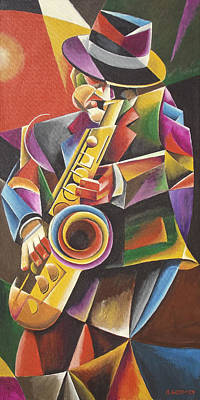 Painting - Jazz Sax by Bob Gregory