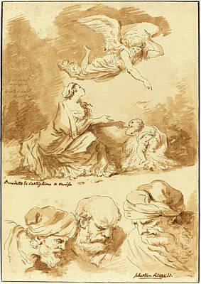 Jesus Drawing - Jean Claude Richard De Saint-non After Jean-honoré by Litz Collection