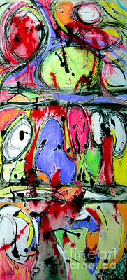 Liquorice Painting - Jelly Beans And Liquorice Allsorts by Nicole Philippi