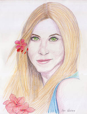 Drawing - Jennifer Aniston by M Valeriano