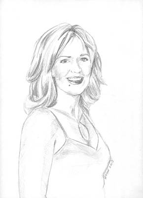 Drawing - Jennifer by Bryan Bustard