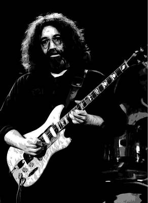 Jerry Garcia Photograph - Jerome At Winterland 1977 by Ben Upham