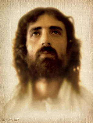 Portraits Digital Art - Jesus In Glory by Ray Downing