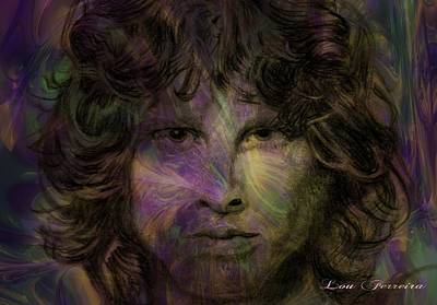 Digital Art - Jim Morrison by Louis Ferreira