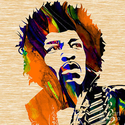Colorful Mixed Media - Jimi Hendrix Collection by Marvin Blaine