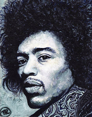 Painting - Jimi Hendrix by Tom Roderick