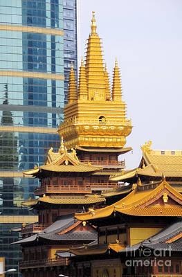 Jin An Temple Shanghai Art Print by Charline Xia