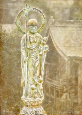 Photograph - Jizo by Karen Walzer