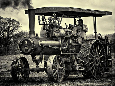 Keck Photograph - Jl Case Steam Tractor by F Leblanc
