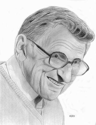 Drawing - Joe Paterno by Pat Moore