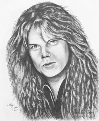 Europe Drawing - Joey Tempest by Lena Auxier