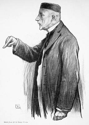 Oil Drawing - John D by Granger