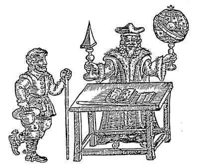 Cosmology Painting - John Dee (1527-1608) by Granger