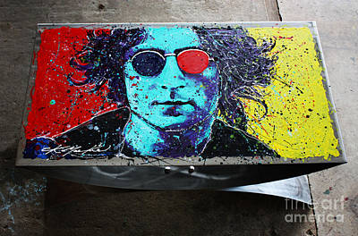 Painting - John Lennon Coffee Table by Chris Mackie