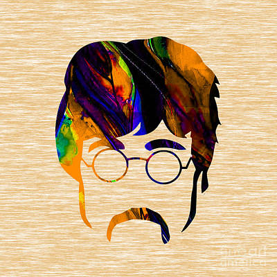 John Lennon Collection Art Print by Marvin Blaine