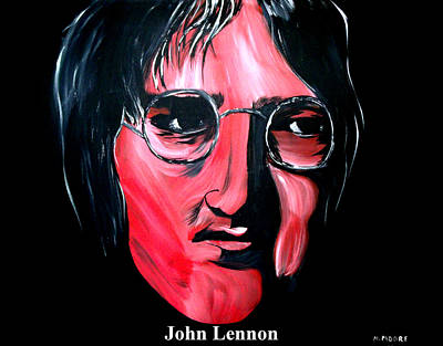 Abstract Painting - John Lennon  by Mark Moore