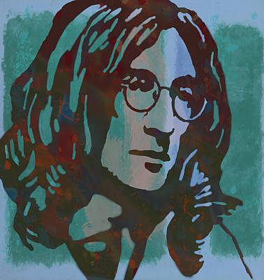 Abstract Pop Drawing - John Lennon Pop Art Sketch Poster by Kim Wang