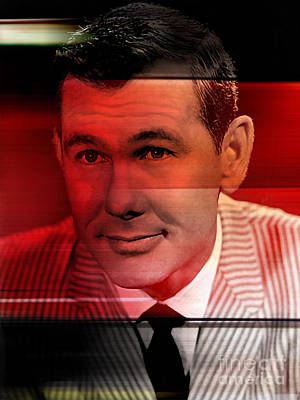 Johnny Carson Mixed Media - Johnny Carson by Marvin Blaine