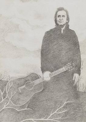 Johnny Cash Drawing - Johnny Cash by Jami Cirotti