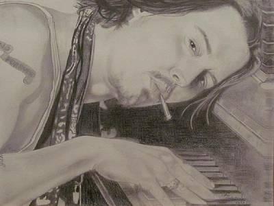 Actors Drawing - Johnny Depp by Gloria MacEachern