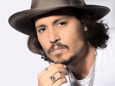 Johnny Depp Digital Art - Johnny Depp by Karon Melillo DeVega