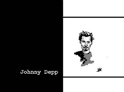 Digital Art - Johnny Depp Sketch by Ann Kipp
