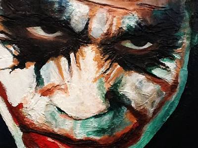 Heath Ledger Wall Art - Painting - Joker by Arianit Fazliu
