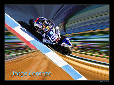 Photograph - Jorge Lorenzo by Blake Richards