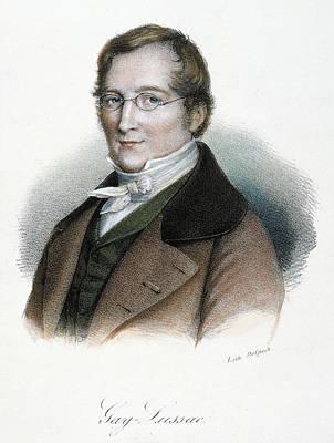Lapel Painting - Joseph Louis Gay-lussac (1778-1850) by Granger