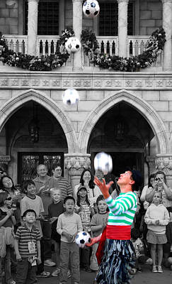 Juggler In Epcot Center Art Print