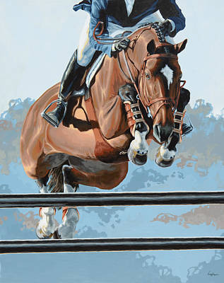 Horses Painting - High Style  by Lesley Alexander