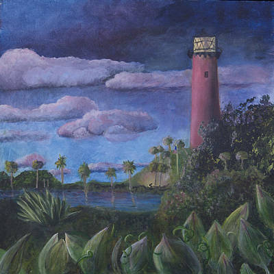Painting - Jupiter Lighthouse by Donna Walsh