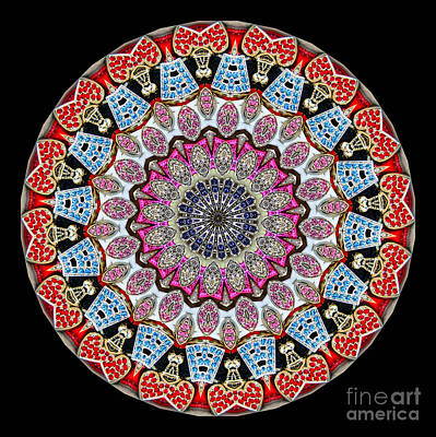 Kaleidoscope Colorful Jeweled Rhinestones Art Print by Amy Cicconi