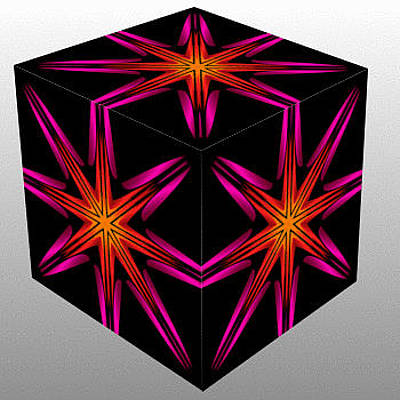Violet Painting - Kaleidoscopic Cube by Bruce Nutting