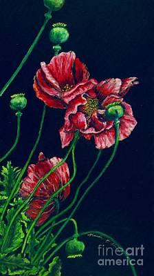 Kara's Poppies Original by Linda Simon