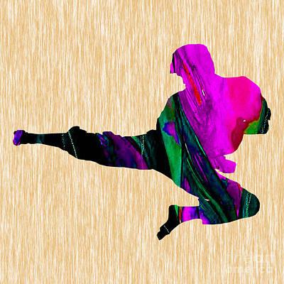 Karate Art Print by Marvin Blaine
