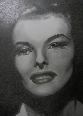 Art Print featuring the drawing Kathryn Hepburn by Lori Ippolito