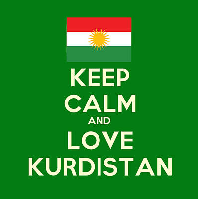 Syria Painting - Keep Calm-and Love Kurdistan by Celestial Images