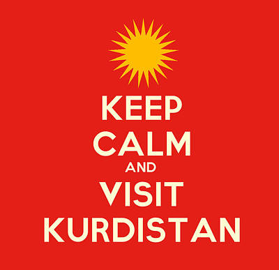 Painting - Keep Calm And Visit Kurdistan by Celestial Images