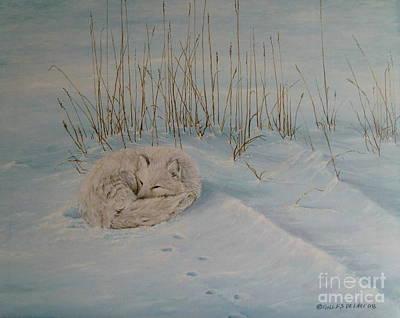 Keeping Warm Print by Gilles Delage