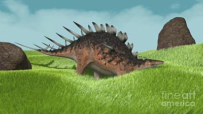 Digital Art - Kentrosaurus Walking Across Prehistoric by Kostyantyn Ivanyshen