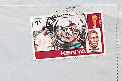 Kenya Stamp Print by Tom Gowanlock