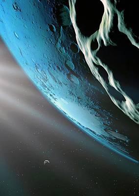 Kepler-62f Print by Detlev Van Ravenswaay