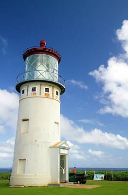 Kilauea Lighthouse Located On Kilauea Art Print by David R. Frazier
