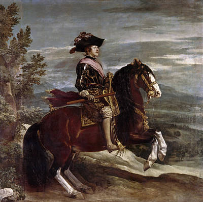 Breastplate Painting - King Philip Iv Of Spain (1605-1665) by Granger