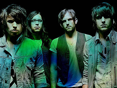 King Mixed Media - Kings Of Leon by Marvin Blaine