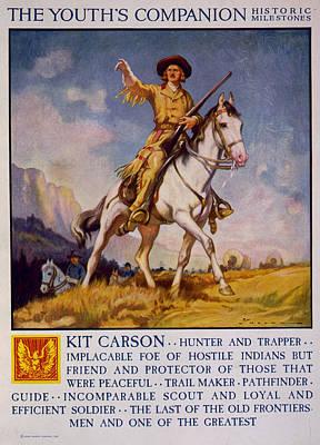 Kit Painting - Kit Carson (1809-1868) by Granger