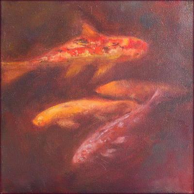 Painting - Koi Pond by Rosemarie Hakim