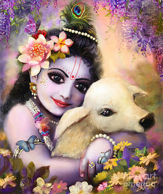 Mixed Media - Krishna Gopal by Lila Shravani