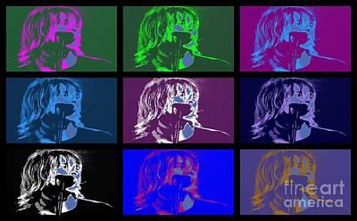 Seattle Digital Art - Kurt Cobain by RJ Aguilar